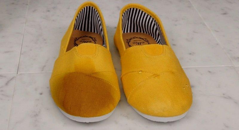 мокрая обувь