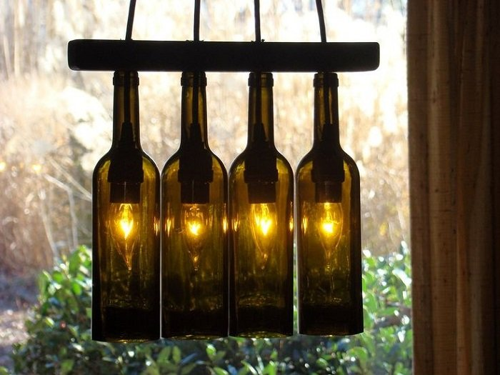 поделки из стеклянных бутылок своими руками