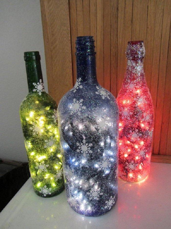 поделки из стеклянных бутылок мастер класс