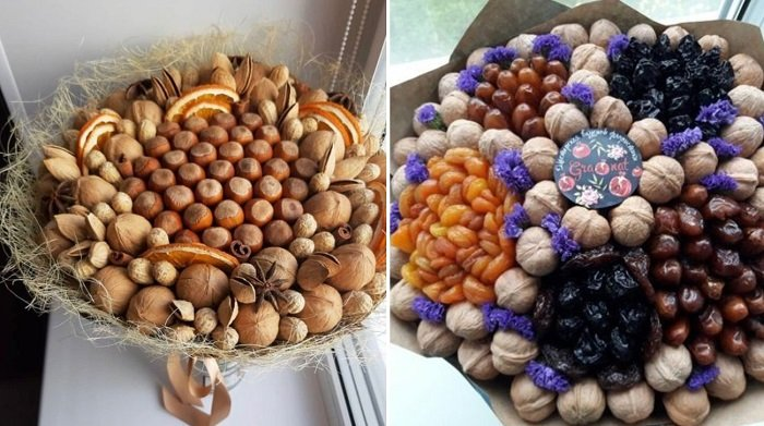 как сделать букет из цукатов