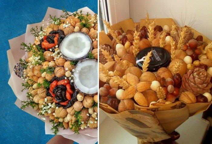 сладкий букет из орехов