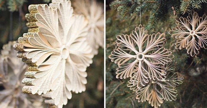как сделать снежинку из бумаги и клея