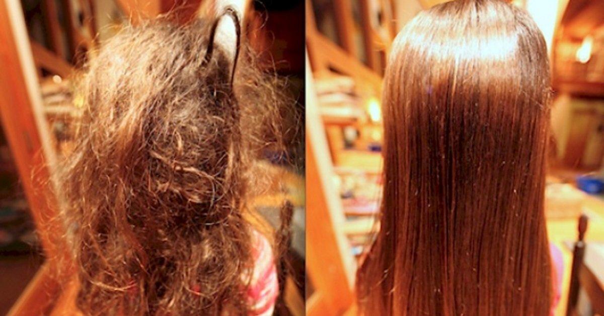 расчесавать волосы как запутанные