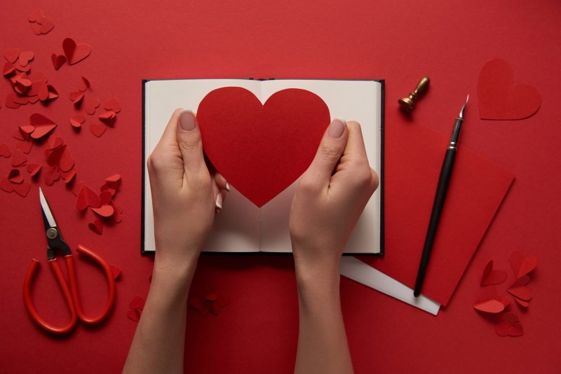 текстильные сердечки валентинки