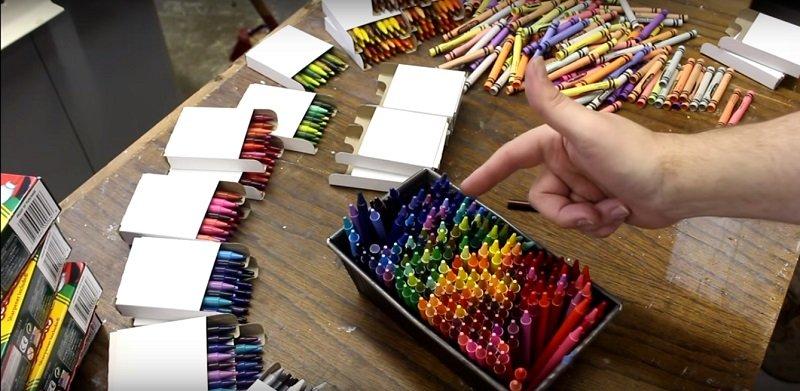 восковые мелки crayola в форме