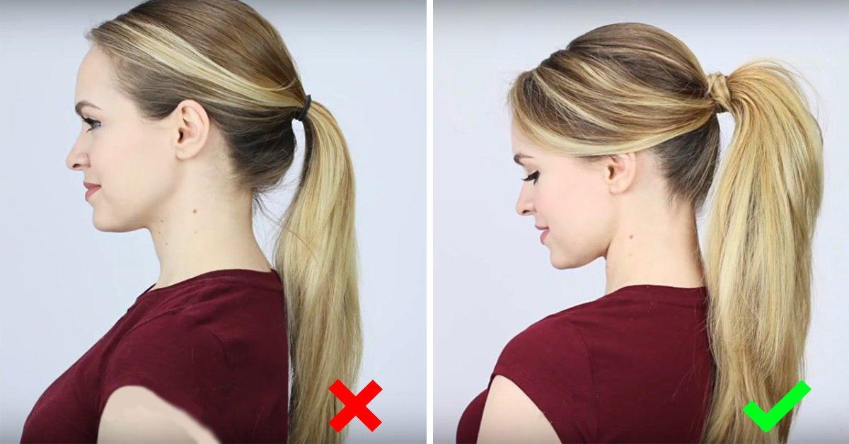 Хвосты на средние волосы