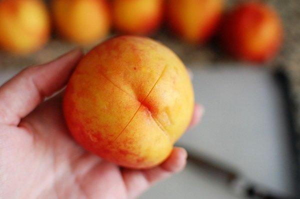 очистка персика