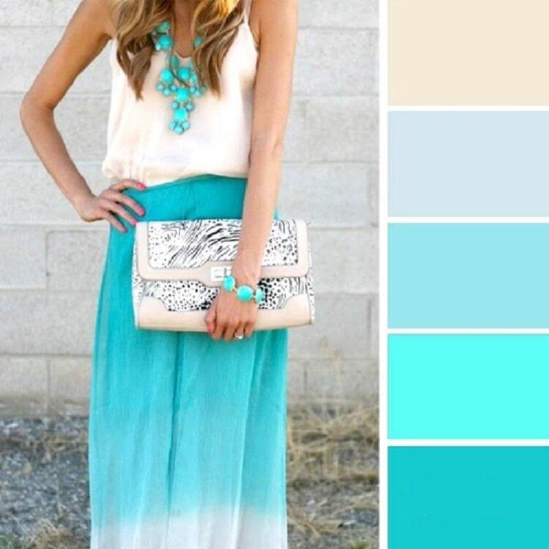 ako kombinovať farby v šatách pre ženy