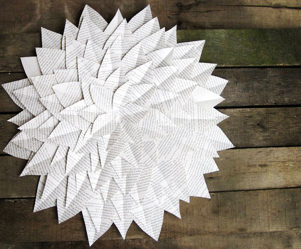 Цветы на ветке из бумаги 62