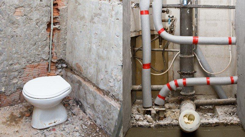 как спрятать трубы в ванной с доступом
