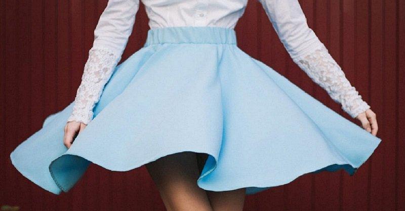 как сшить юбку солнце на резинке