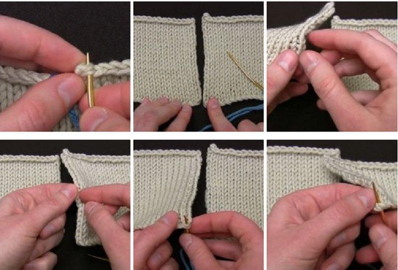 Как аккуратно сшить вязаную вещь 50
