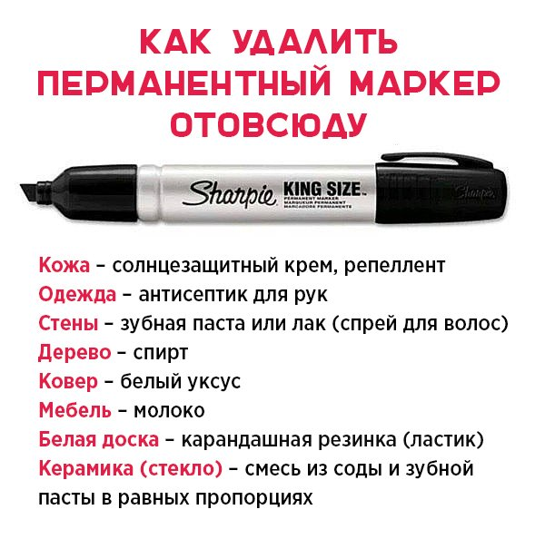 как удалить пятна от маркера