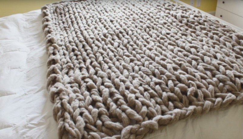 Вязание спицами больших пледов 21