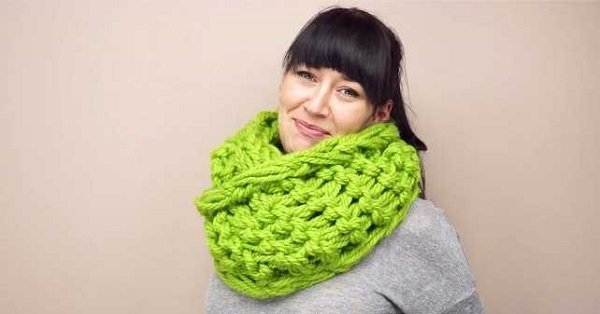 Вязание шарфов и восьмерок 250