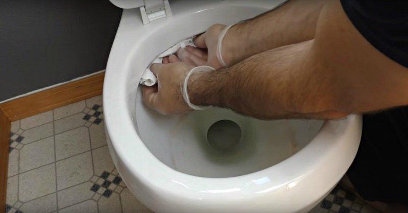 как помыть унитаз