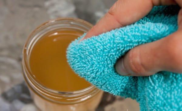 уксус и полотенце