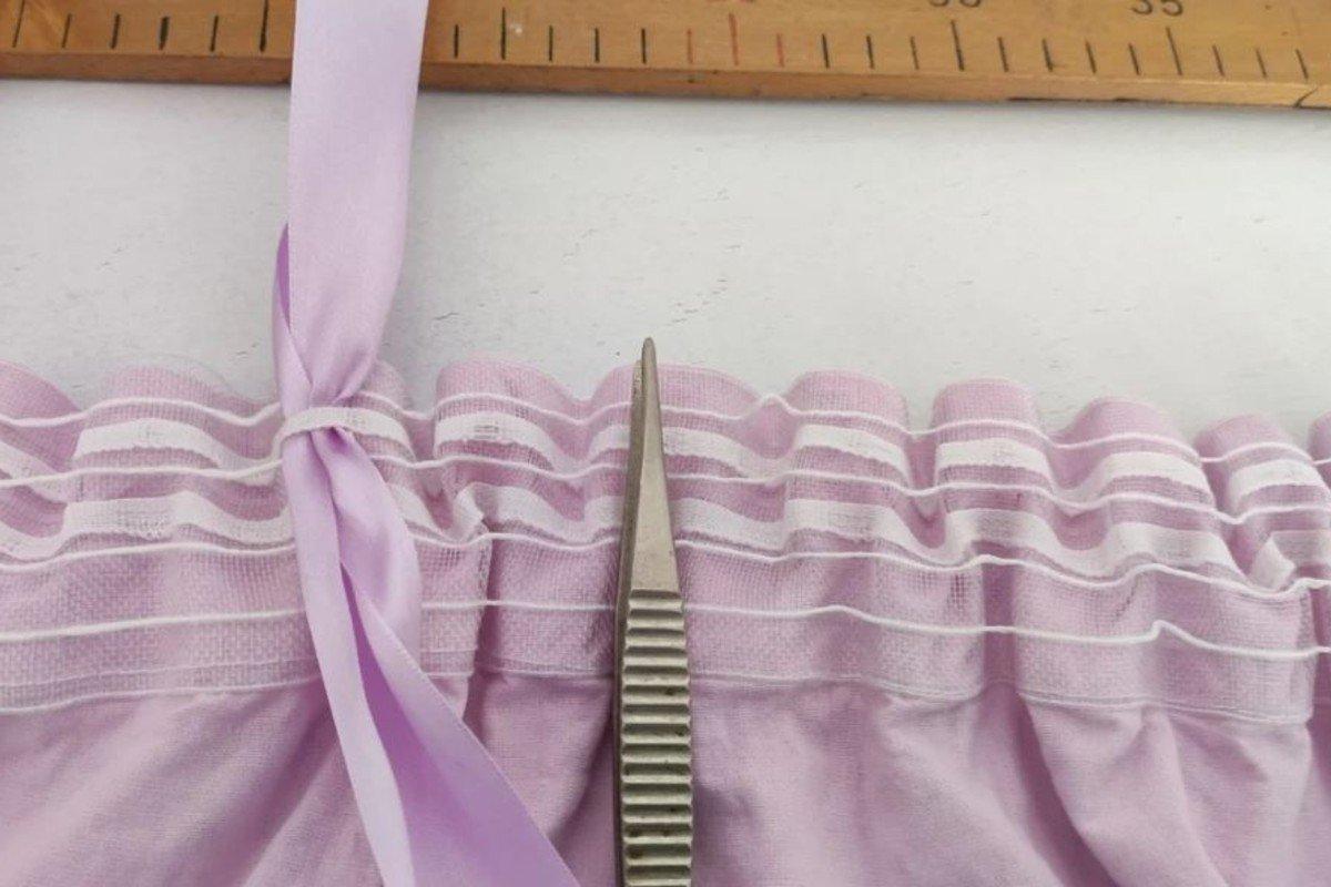 Увеличение длины коротких штор или занавесок без шитья можно, чтобы, шторы, хомуты, занавески, удлинить, плохо, короткие, может, ленты, понадобится, рассчитать, корсажной, точно, продень, занавесок, длины, длину, отрезки, равные
