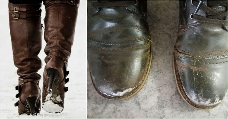как убрать соль с обуви