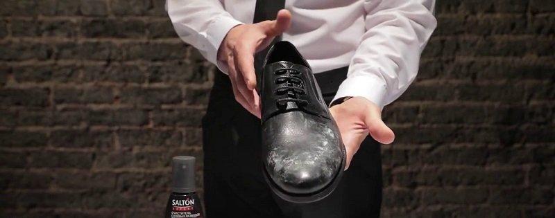 как почистить обувь от соли