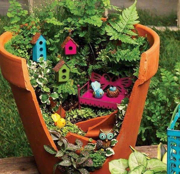 декор цветочных горшков мастер класс