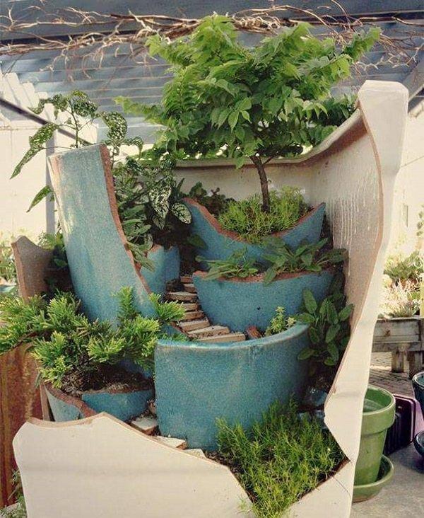 декор цветочных горшков фото