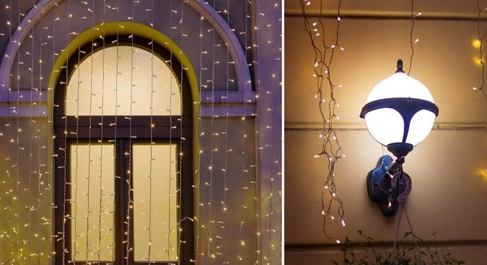 как украсить дом гирляндами к новому году