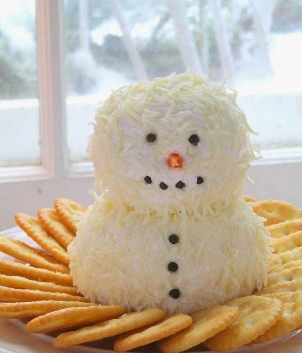 новогодний салат-снеговик