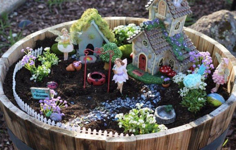 как украсить садовый участок своими руками