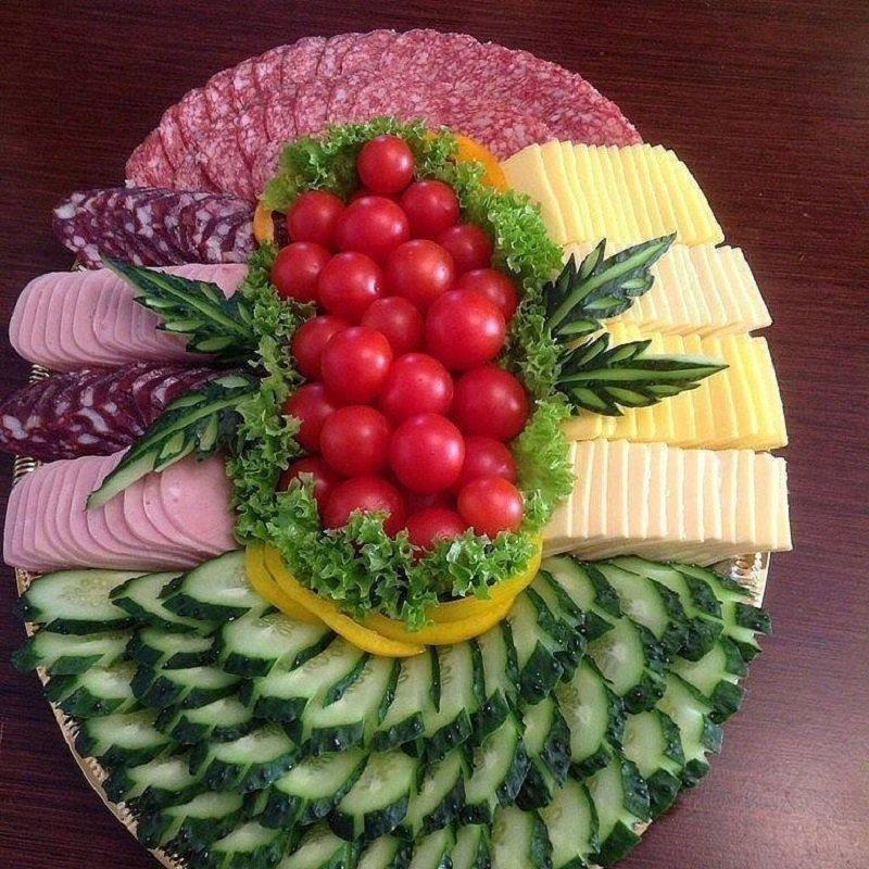 идеи нарезки для праздничного стола