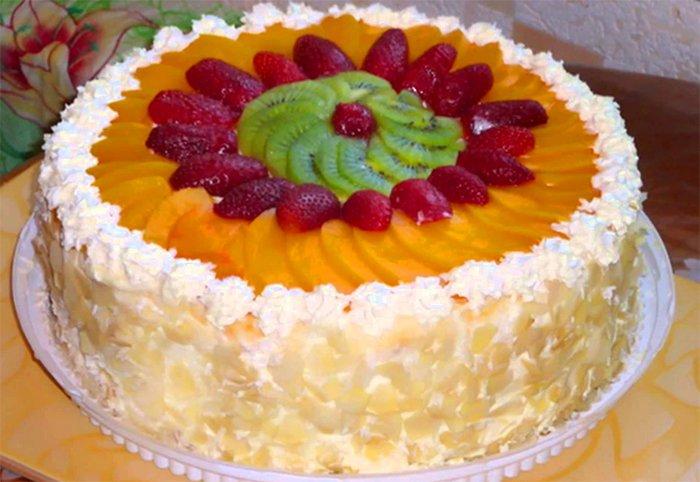 как украсить торт апельсином