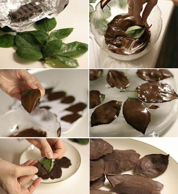 Как сделать украшения из шоколада 66