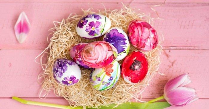 как украсить пасхальные яйца салфетками