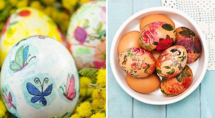 как украсить пасхальные яйца лентами
