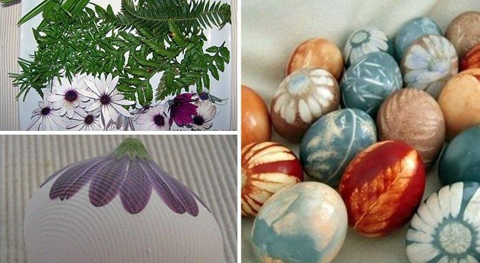 как украсить пасхальные яйца с помощью салфеток