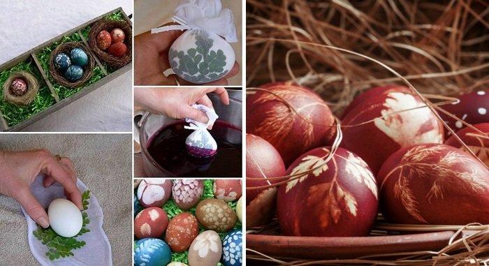 как украсить пасхальные яйца в домашних условиях