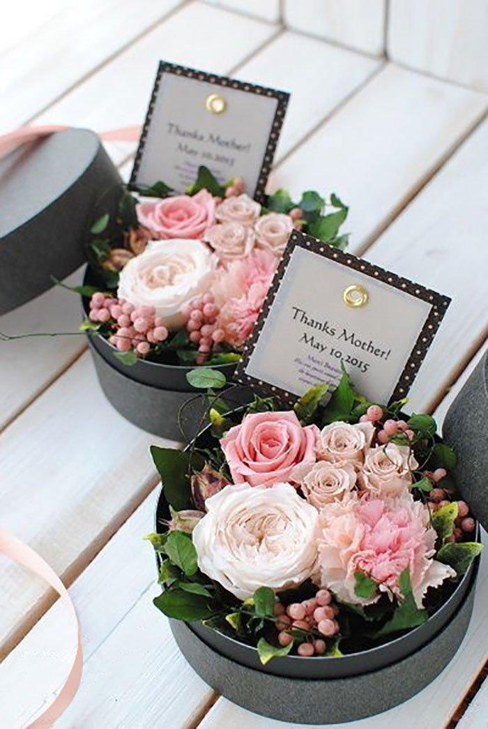 оформление букета цветов