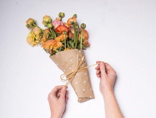 упаковка цветов