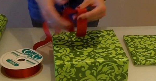 Хитрый трюк, который пригодится всем! Вот так ты упакуешь любой подарок за 15 секунд…