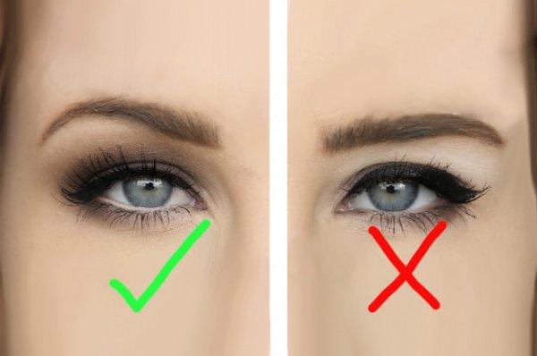 Как увеличить слишком маленькие глаза тенями
