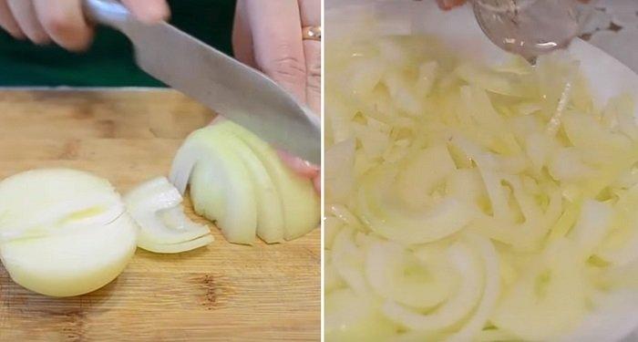 куриные желудки с картошкой в сметане