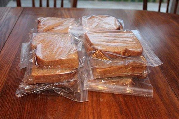 бутерброд в пакете