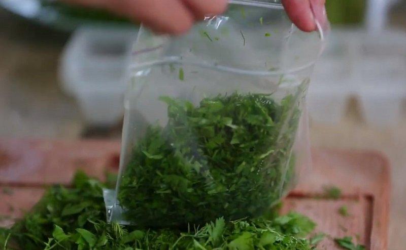 как заморозить зелень петрушки
