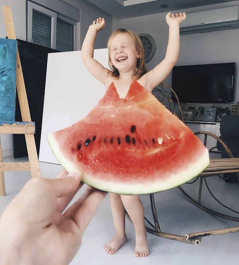 летние фотосессии фрукты