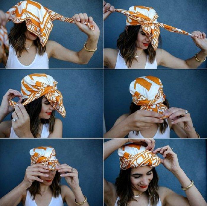 платок на голову осенью