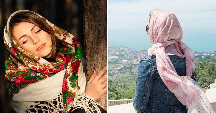 как платок повязать на голову