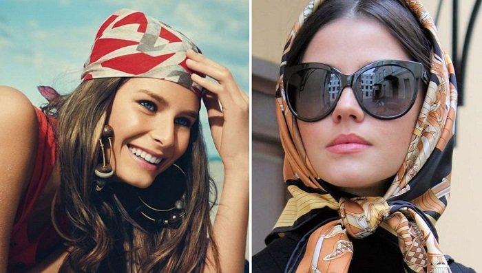 платок на голову как завязывать