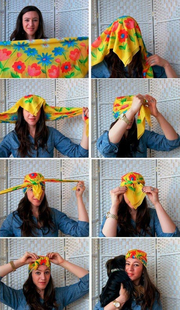 Пошагово как завязывать платки на голову