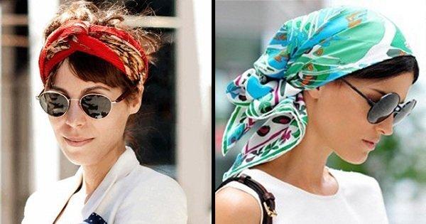 Как красиво завязать платок на голове, если у Вас короткие 92