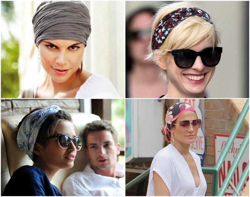 платок шелк на голову